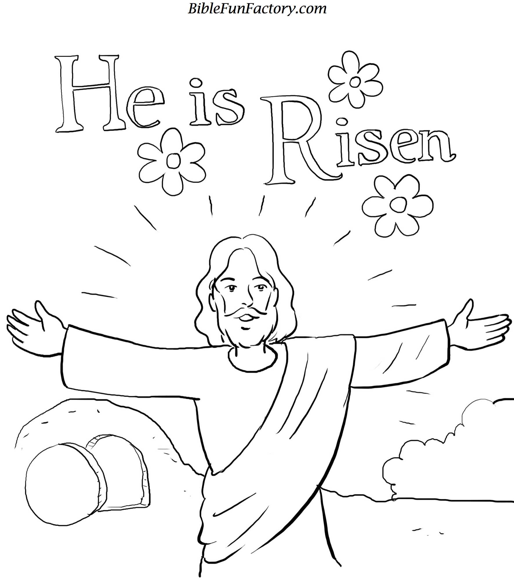 Free easter coloring sheet bible lessons games and for Preschool religious easter coloring pages printable