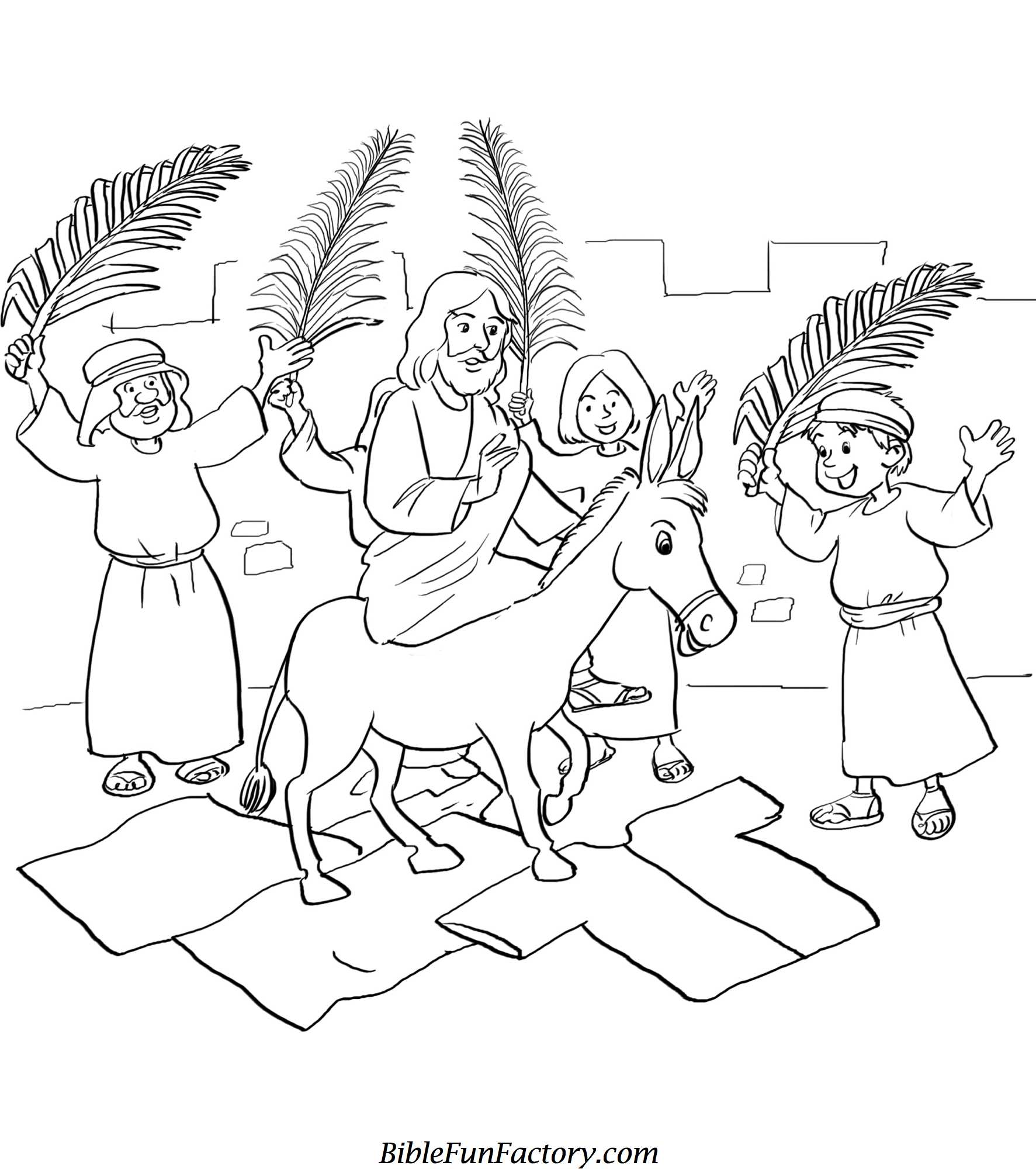 palm sunday coloring pages printable - photo#1